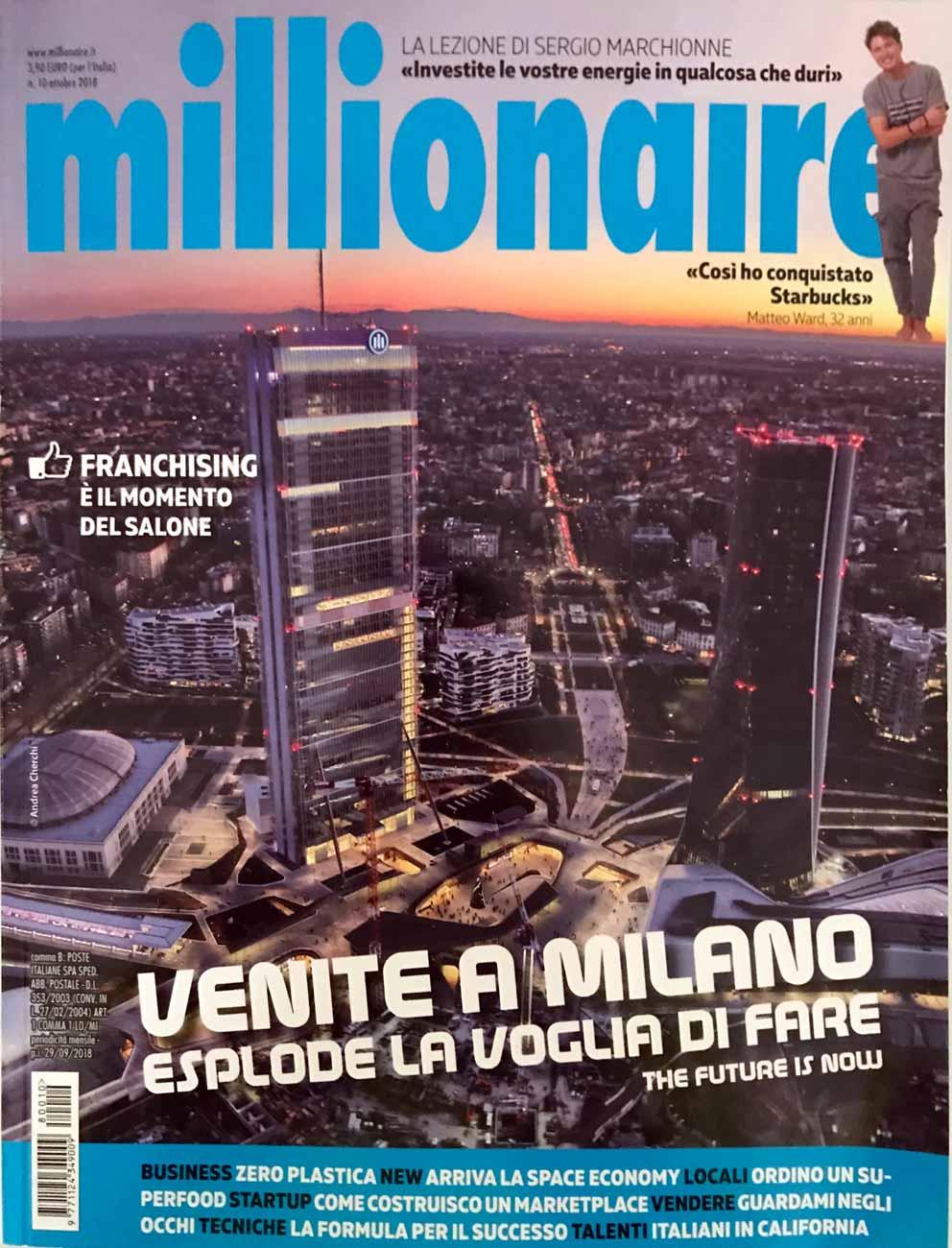Articolo VFI - Milionaire, 2018 - copertina
