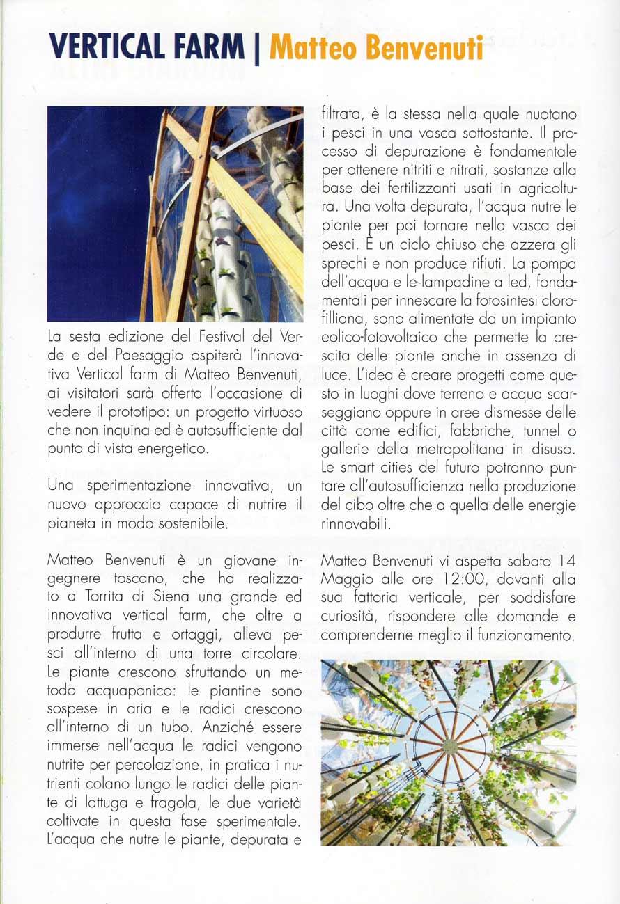 Articolo VFI - Festival del Verde e del Paesaggio, 2016 - articolo