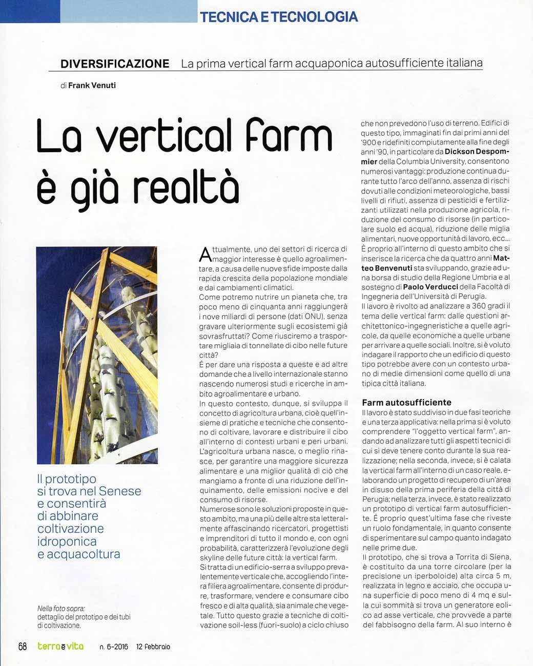 Articolo VFI - Terra e Vita, 2016 - pagina 1